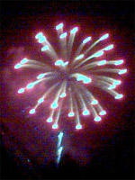 Fourth of July fireworks at Knoxville, taken with my camera phone - click to enlarge (20 kb).