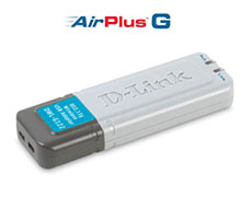 D-Link DWL G-122 Wireless USB Adapter - click to enlarge (9 kb).