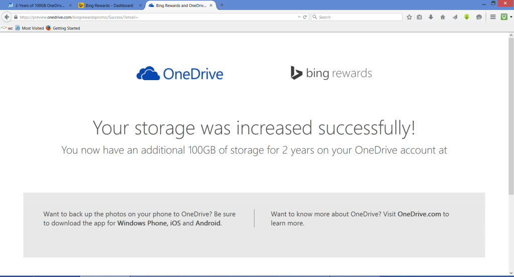100 GB Microsoft OneDrive Storage - Free for 2 Years (Ends Feb 28)