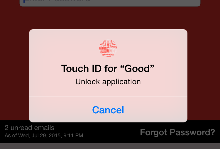 Good iPhone app now has Touch ID support